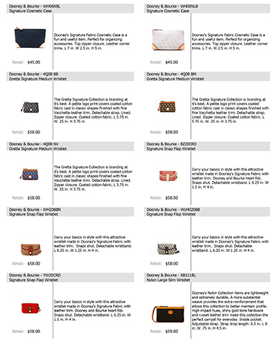 Dooney & Bourke Core Listing
