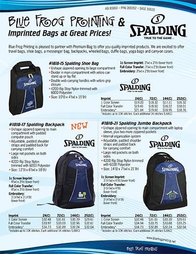Premium Bag Imprint 2017